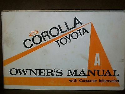 1973 Toyota Corolla Owner's Manual owners