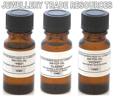 Bhl Watch Oil Set Of 3 For Antique Mechanical Watches • EUR 14,26
