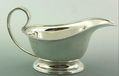 Antique Solid Silver Sauce Boat Mappin & Webb 1918 231Gms 8Oz