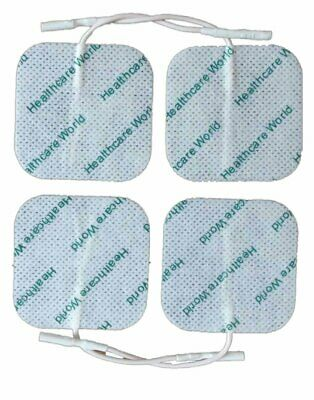 4 Square Tens Electrode Pads Reusable For Tens Machines