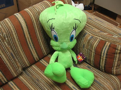 "24"" plush Tweety Bird green doll, good condition"
