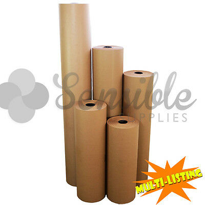 Heavy Duty QUALITY RIBBED Thick Brown Kraft Packing Wrapping Paper Rolls 90gsm