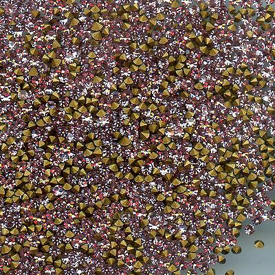 451085 *** 60 STRASS ANCIENS FOND CONIQUE LIGHT ROSE 1,7mm