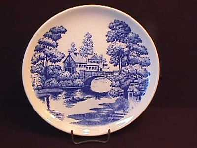 "BLUE & WHITE  WALL PLATE  NASCO "" LAKEVIEW ""6.1/4"""
