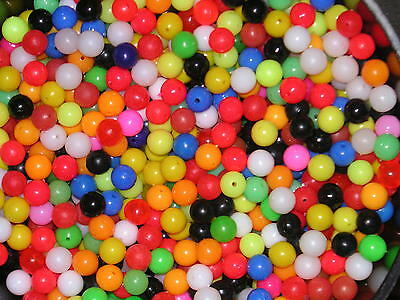 Rig making beads,Course/sea/game fishing,8mm,mixed colours x100