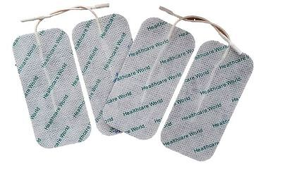 4 LARGE TENS ELECTRODE PADS Reusable For Tens Machines