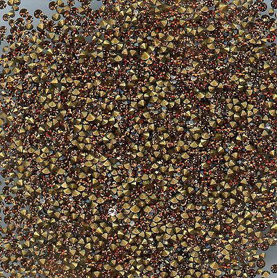 451082 *** 80 STRASS ANCIENS FOND CONIQUE SMOKED TOPAZ environ 1mm