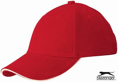 Slazenger 6 Panel Sandwich Baseball Cap Hat - 8 Colours