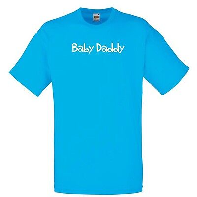 BABY DADDY paternity dad Azure Blue Standard T-Shirt