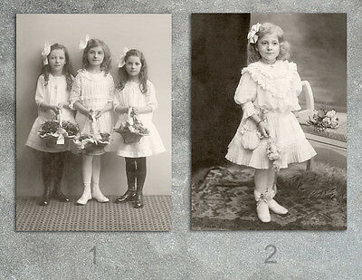 Flower girls Victorian Edwardian Weddings photos lot CHOICES two 5x7s or request