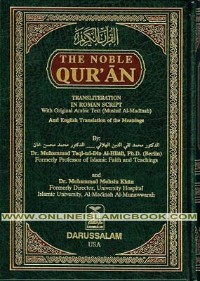 Noble Qur'an Arb/Eng with Transliteration in Roman Scri