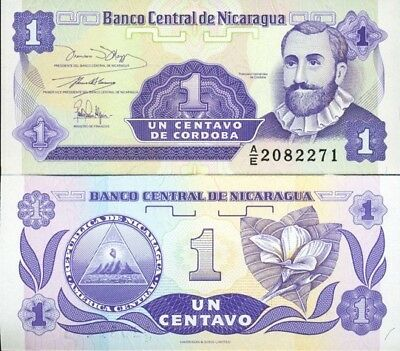 Nicaragua Banknote 1 Centavo  X1 Unc 1991