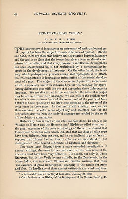 1901 Color Sense Vocabularies Anthropology article