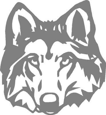 Grey Wolf Head Sticker,Graphic,Decal