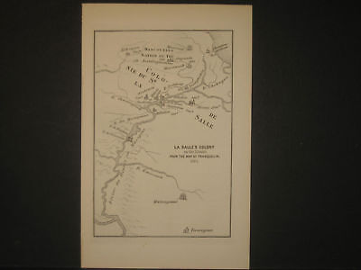 LaSalle Colony 1684 Map Engraving 1898