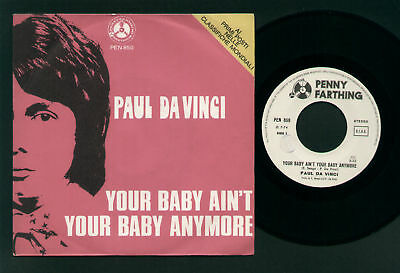 "7"" Paul Da Vinci Your Baby Ain't.... Italy 1974 Orig"