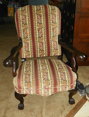 Mahogany Carved Karpen Armchair Parlor Chair  (AC81)