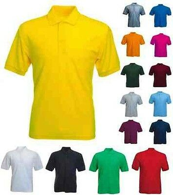 Mens Classic Polo T Shirts Size XS to 4XL - 100% PLAIN NO LOGOS ANYWHERE - MG105