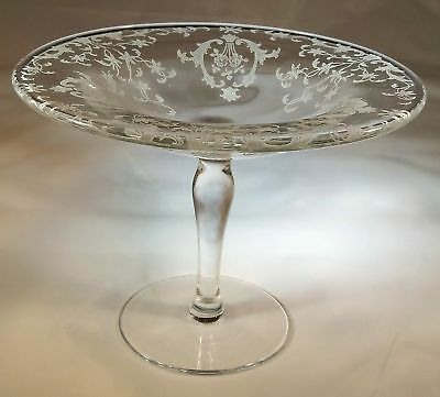 "FOSTORIA NAVARRE CRYSTAL #2400 4-1/2"" TALL FOOTED COMPOTE or CANDY STAND!"