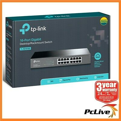 NEW TP-Link TL-SG1016D 16 Port Gigabit Switch Hub Desktop / Rackmount 1000Mbps
