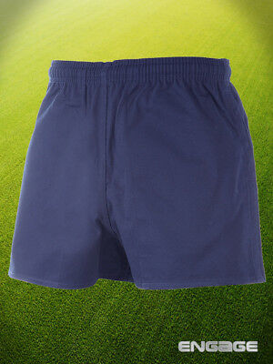 "Engage Cotton Rugby Shorts Navy Kids Sizes 22""-28"""