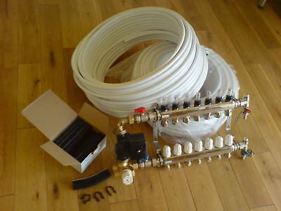 Warm Underfloor Heating Kit 3 Port For A Floor Area Of 40- 50M2