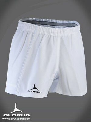 """Olorun Kinetic White Rugby Shorts 30"""" - 42"""""""