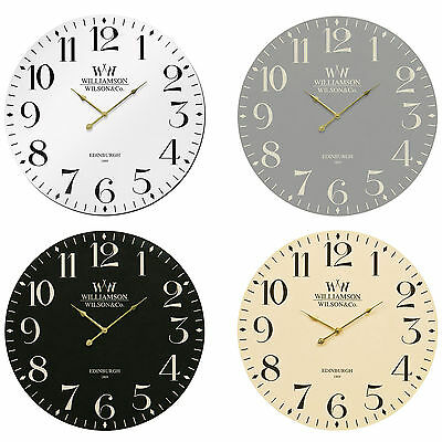 Large 60cm Classical Wall Clock Vintage Style MDF Wooden Home Kitchen Decoration