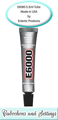 E6000 Industrial Glass Glue Adhesive 5.32ml / .18Fl.OZ​ Dolls Bails Cabs Pendant