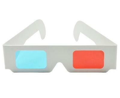 4 X Paper 3D Glasses Red/blue Anaglyph  For 3D Dvd Game