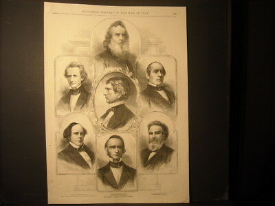 Abraham Lincoln Cabinet Leslies Engraving 1861