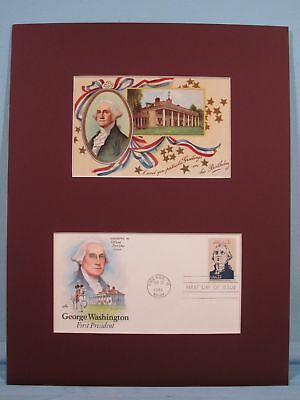 George Washington at Mount Vernon & First day Cover