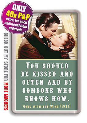 Gone with the Wind Fridge Magnet Quote Vivien Leigh