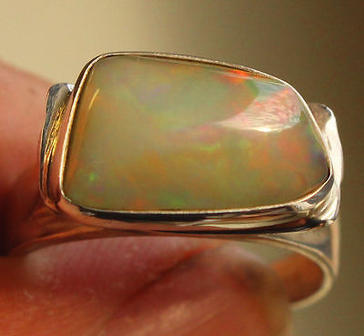 WELO OPAL, 4.9 Cts., Ring, Silber 950, Gr. 20,3 mm