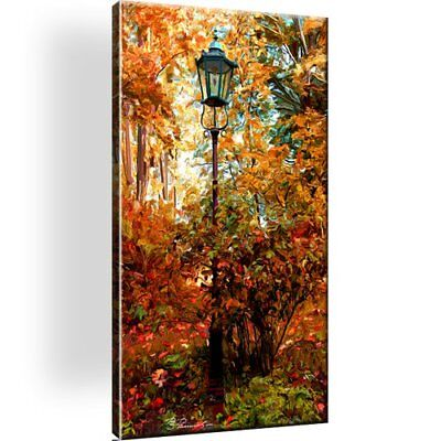 Laterne . Herbst . Leinwand Bild . Fall Picture Canvas