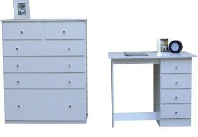 bedroom> New Desk + 1 Tallboy/Chest of drawers In White/Del Syd Melb Bris Adel