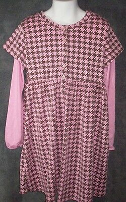 Boutique LAURA ASHLEY Pink Brown DRESS Star Pattern 6X
