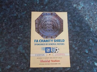 1984 Charity Shield Everton V Liverpool