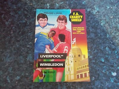 1988 Charity Shield Liverpool V Wimbledon