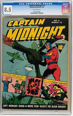 CGC (FAWCETT) CAPTAIN MIDNIGHT#  6 vf+ 8.5 1943