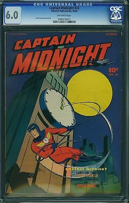 Cgc (Fawcett) Captain Midnight# 45 Fn 6.0 1946 ***