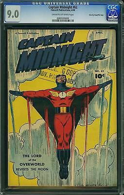 Cgc (Fawcett) Captain Midnight# 62 Vf/nm 9.0 2Nd Highest Graded