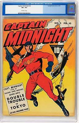 CGC CAPTAIN MIDNIGHT (FAWCETT)#  5 vf+ 8.5 1943
