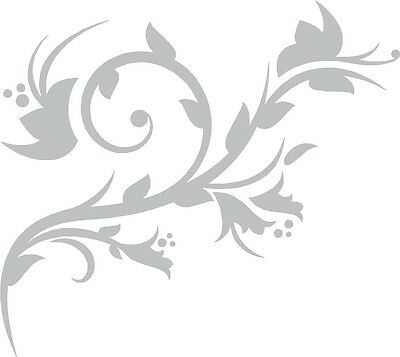 Flower Etched Effect, Frosted Vinyl Window Sticker (#9)