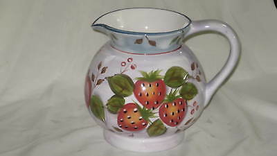 Heritage Mint Black Forest Fruits 3Qt Lrg Pitcher EXC Strawberries Blueberries