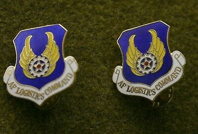 3423) Set of 2 Air Force Logistic Command DI Crest Insignia USAF Military Pin