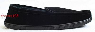 ISOTONER Men Corduroy Slip On Slippers Black L, XL, XXL