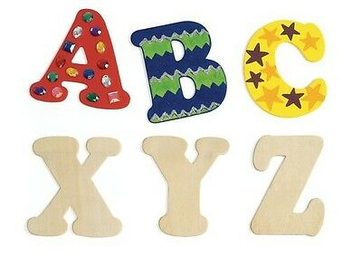 """4"""" Wood Letters Unfinished - Choice of Wooden Letters"""