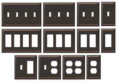 Oil Rubbed Bronze Wall Switch Plate Outlet Cover Rocker Toggle Metal