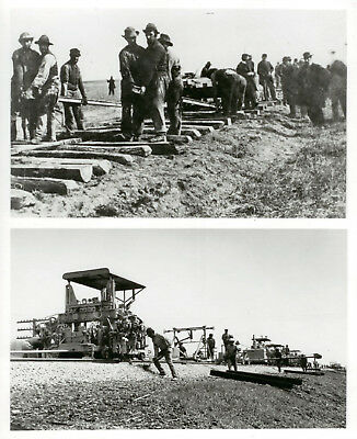 Contrast-1866 Railroad Construction Method With Modern